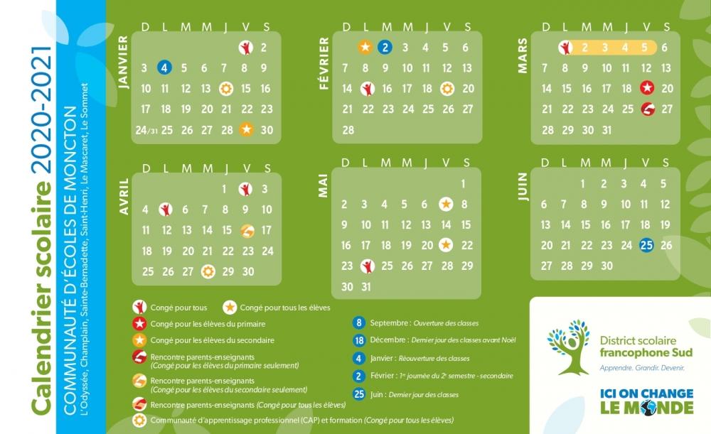 Calendrier Mascaret 2021 Calendrier scolaire   École Le Mascaret
